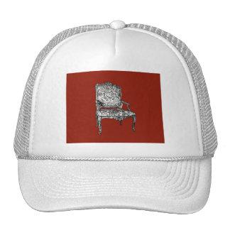Regency chair in red trucker hat