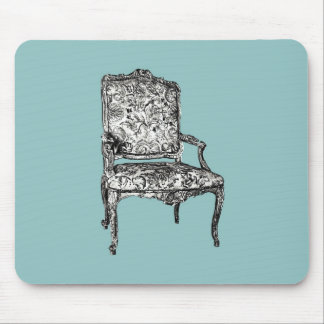 Regency chair in turquoise mouse pad