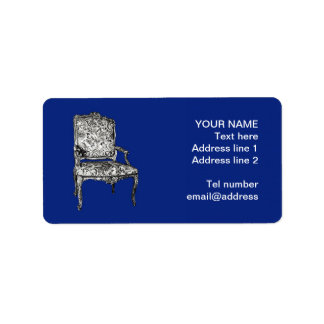 Regency chairs in dark blue label