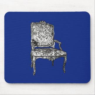 Regency chairs in dark blue mouse pad