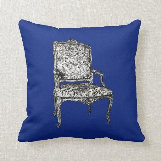 Regency chairs in dark blue pillow