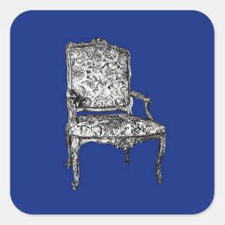Regency chairs in dark blue square sticker