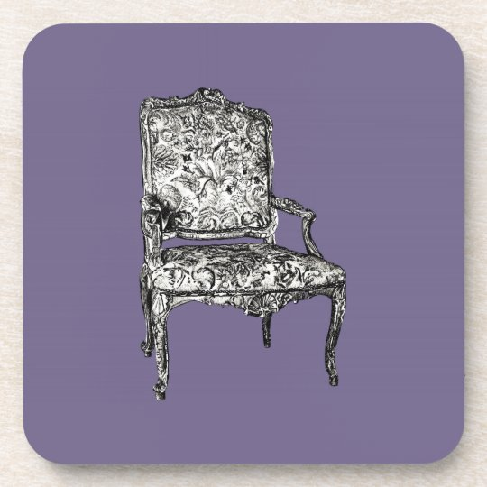 Regency chairs in lilac grey drink coaster