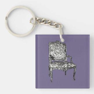 Regency chairs in lilac grey keychain