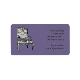 Regency chairs in lilac grey label