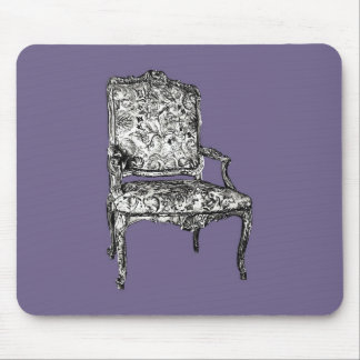 Regency chairs in lilac grey mouse pad