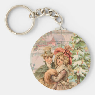 Regency Christmas Couple Vintage Style Gifts Key Chains