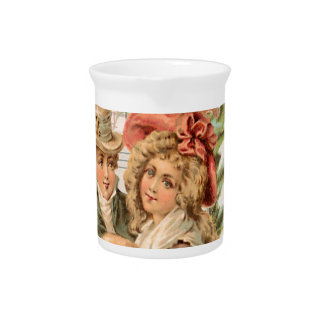Regency Christmas Couple Vintage Style Gifts Drink Pitchers