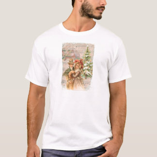 Regency Christmas Couple Vintage Style Gifts T-Shirt