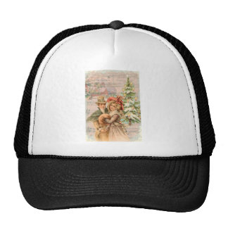 Regency Christmas Couple Vintage Style Gifts Trucker Hat