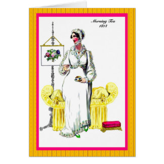 Regency Fashion 1814 greeting card