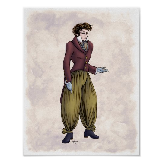 Regency Fashion - Gentleman #6 - 11x14 Art Print