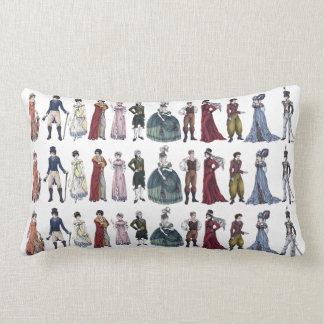 Regency Fashion History Jane Austen Throw Pillow
