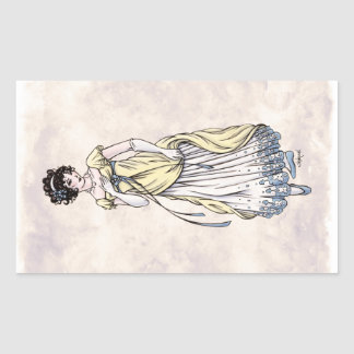 Regency Fashion - Lady #1 - 4 Sticker Sheet