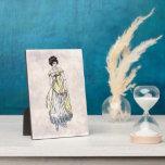 Regency Fashion - Lady #1 - 5x7 Art Plaque