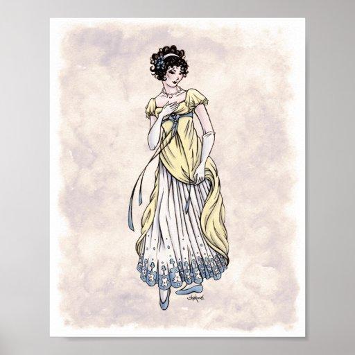 Regency Fashion - Lady #1 - 8x10 Art Print