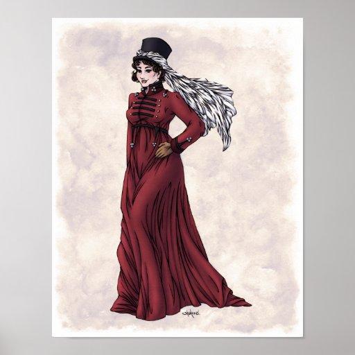 Regency Fashion - Lady #5 - 11x14 Art Print