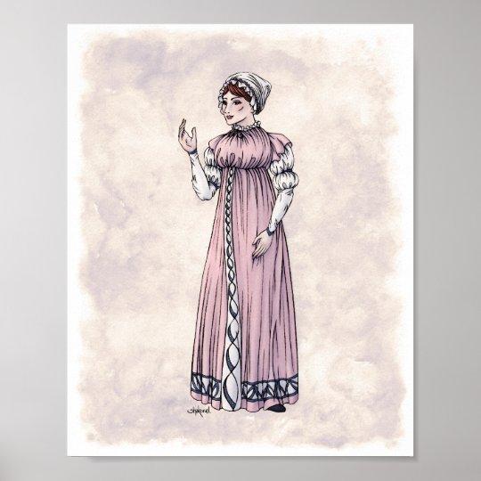 Regency Fashion - Lady #6 - 8x10 Art Print