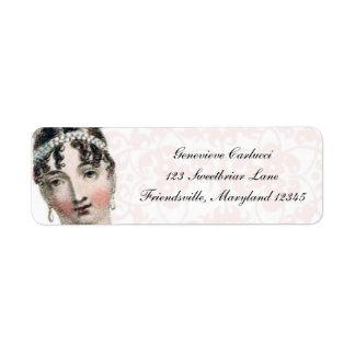 Regency Fashion Plate Custom Return Address Labels