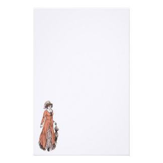 Regency Fashion Stationery - Lady #2