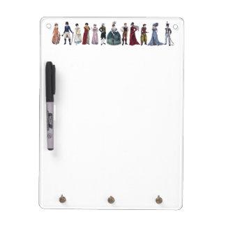 Regency Fashion - Vertical Whiteboard/Keyholder Dry Erase Board