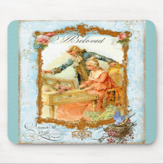 Regency French style Romantic Musical Couple Mousepad
