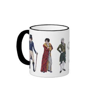 Regency Gentlemen History Fashion Jane Austen Mug