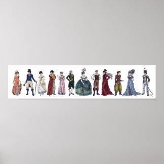 Regency Historical Fashion - Long 20x4.5 Poster