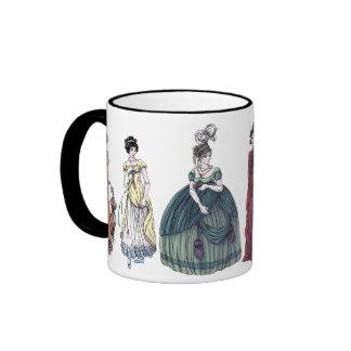 Regency Ladies Historical Fashion Jane Austen Mug