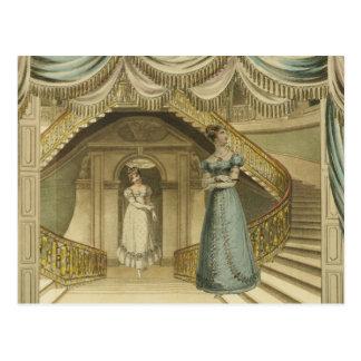 Regency Ladies on the stairs Post Cards
