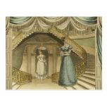 Regency Ladies on the stairs Postcard