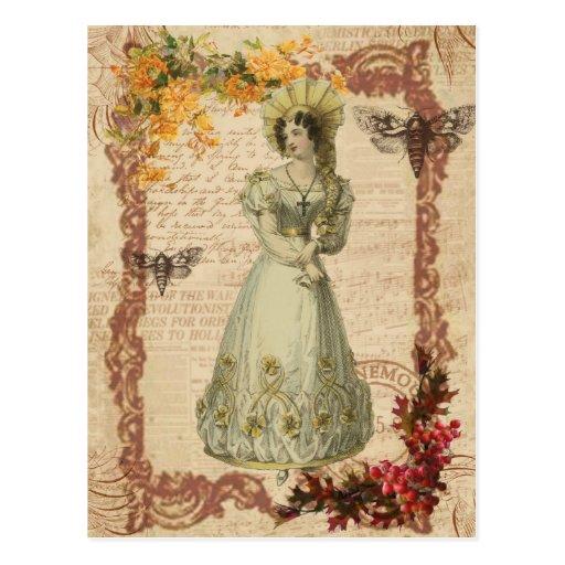 Regency Lady Postcard