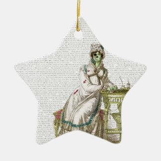 Regency lady  - Zombified! Ceramic Ornament