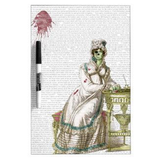 Regency lady  - Zombified! Dry Erase Board