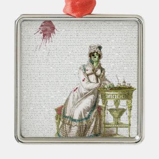 Regency lady  - Zombified! Metal Ornament