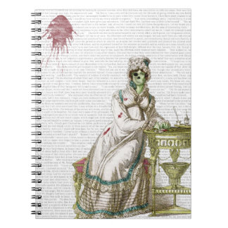 Regency lady  - Zombified! Spiral Note Books
