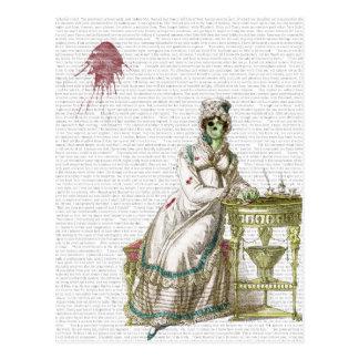 Regency lady  - Zombified! Postcard