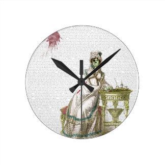 Regency lady  - Zombified! Round Clocks