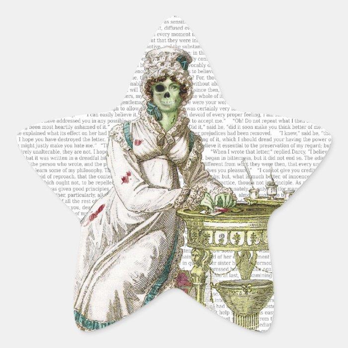 Regency lady  - Zombified! Star Sticker