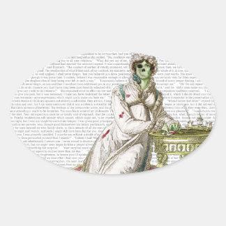 Regency lady - Zombified Stickers