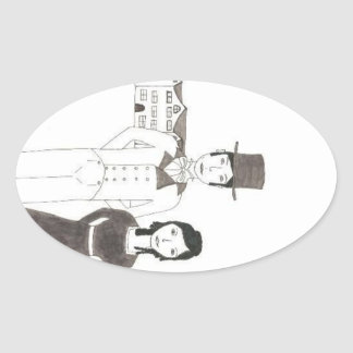 Regency Man and Wife Time Won t Let Me Go Oval Stickers