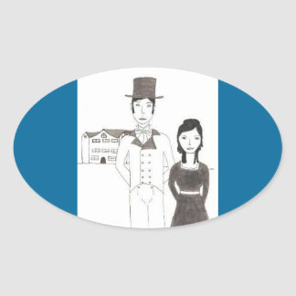 Regency Man and Wife Time Won t Let Me Go Sticker