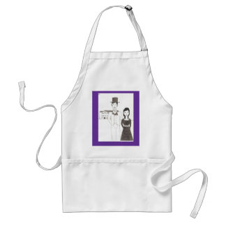 Regency Man and Wife (Time Won't Let Me Go) Adult Apron