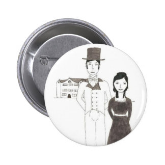 Regency Man and Wife (Time Won't Let Me Go) Pinback Button
