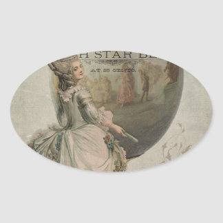Regency Rapture Oval Sticker