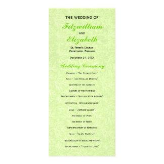 Regency Romance Wedding Programs Custom Rack Cards