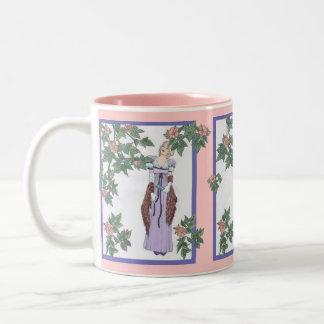 Regency Rose Two-Tone Coffee Mug