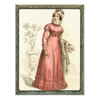 Regency wink Dress Postcard