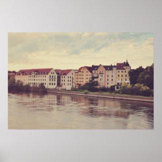 Regensburg architecture poster