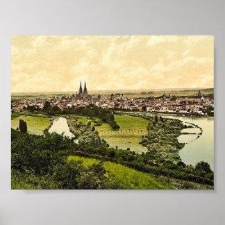 Regensburg, Bavaria, Germany classic Photochrom Poster